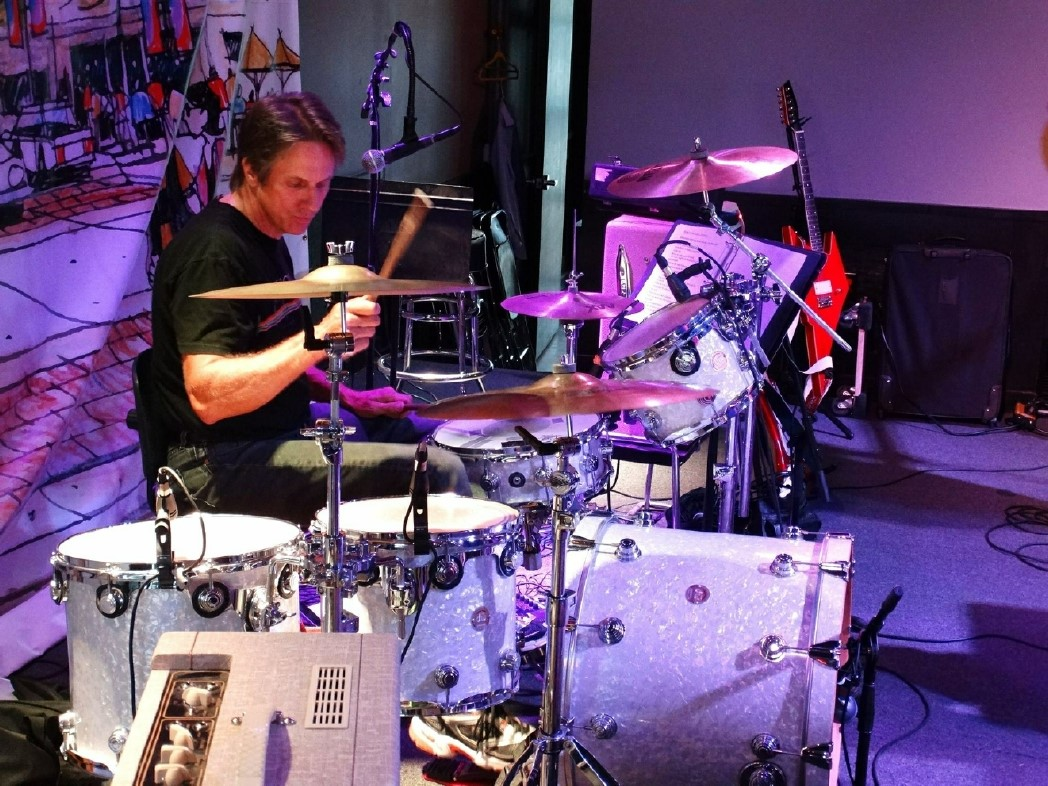 Billy Casey on drums